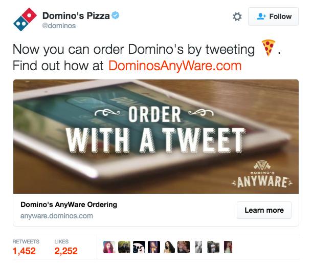 dominos tweet